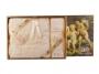 Банный набор 3 пр.: парео 90*150 см, полотенце 50*70 см, бандана 8*64 см.100% хлопок вышивка бежевый