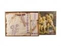 Банный набор 3 пр.: парео 90*150 см, полотенце 50*70 см, бандана 8*64 см 100% хлопок вышивка бежевый
