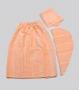 Набор для сауны 3 пр.:парео, капор, полотенце махровый женский персиковый