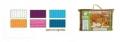Комплект вафельный для мужчин, цветной, однотонный, Банные штучки (32064) розовый