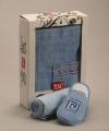Мужской набор для сауны TAC,махровый,голубой