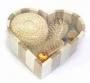 сув.банный набор в дерев.сердце 6пр 17х14см
